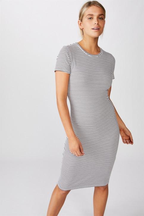 Đầm Ôm Nữ - Essential Short Sleeve Bodycon
