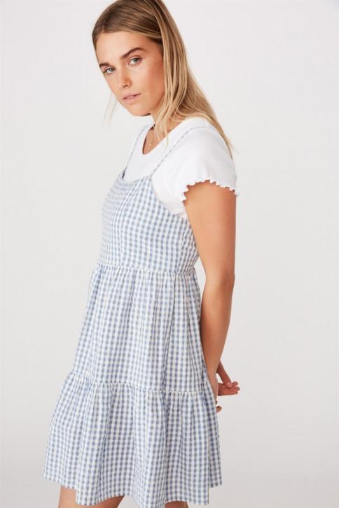 Đầm mini nữ - Woven Birdie Tiered Mini Dress