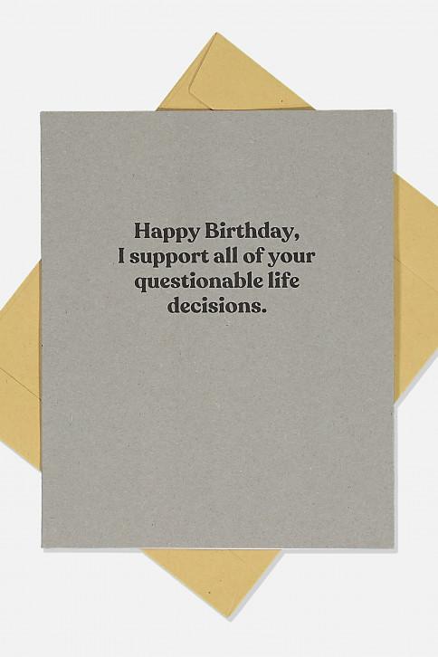 Thiệp sinh nhật - FUNNY BIRTHDAY CARD