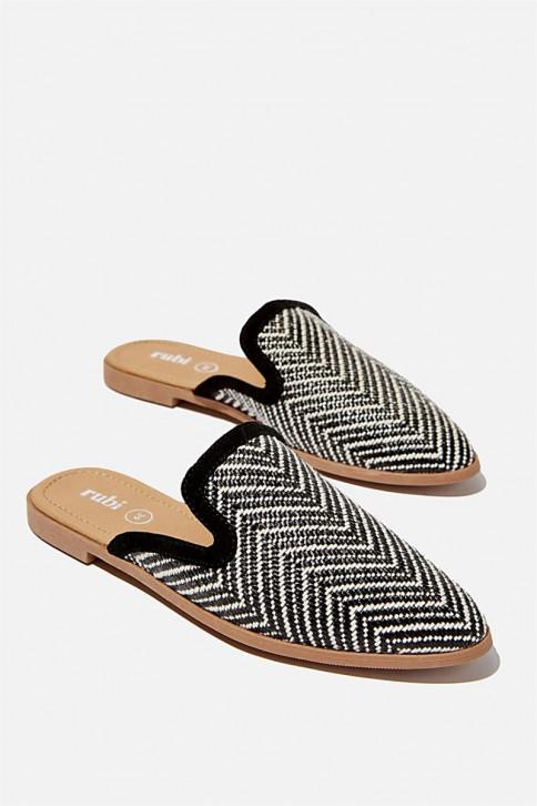 Giày Hở Gót Mule - Shade Raffia Mule