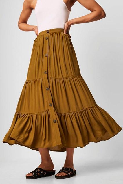 Chân Váy Nữ Easha Drape Button Front